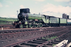 4472 Flying Scotsman at LowMoor 1969.