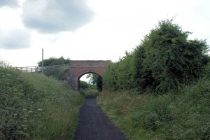Minor road bridge over line shortly after leaving Hawsker.