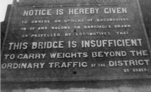 LMS sign Iron Bridge Cleckheaton 1969