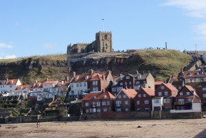 Parish church and Whitby old town 2013.