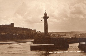 Whitby harbour and lighthouse